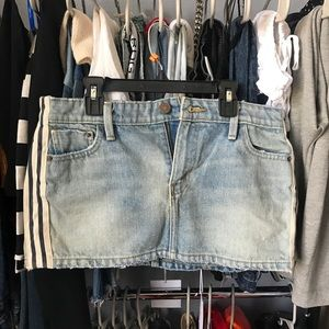 Urban outfitters denim mini skirt